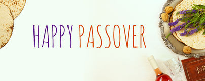 Pesah celebration concept & x28;jewish Passover holiday& x29;. Pesah celebration concept & x28;jewish Passover holiday& x29;. Traditional book with text Royalty Free Stock Images