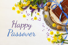 Pesah celebration concept & x28;jewish Passover holiday& x29;. Pesah celebration concept & x28;jewish Passover holiday& x29;. Traditional book with text Stock Photos
