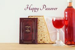 Pesah celebration concept & x28;jewish Passover holiday& x29;. Pesah celebration concept & x28;jewish Passover holiday& x29;. Traditional book with text Royalty Free Stock Image