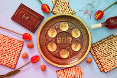 Pesah celebration concept & x28;jewish Passover holiday& x29;. Pesah celebration concept & x28;jewish Passover holiday& x29;. Traditional pesah plate Stock Images