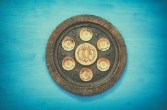Pesah celebration concept & x28;jewish Passover holiday& x29;. Pesah celebration concept & x28;jewish Passover holiday& x29;. Traditional pesah plate Stock Photo
