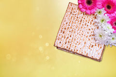 Pesah celebration concept (jewish Passover holiday) with wine and matza Royalty Free Stock Photography