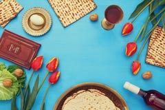 Pesah celebration concept & x28;jewish Passover holiday& x29; Stock Photos
