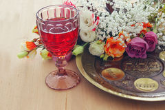 Pesah celebration concept & x28;jewish Passover holiday& x29; Royalty Free Stock Photo