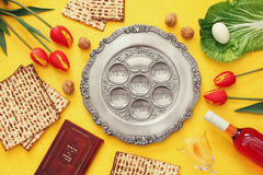 Pesah celebration concept & x28;jewish Passover holiday& x29; Royalty Free Stock Photos