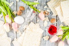 Pesah, ?ydowski Passover wakacje t?o fotografia stock