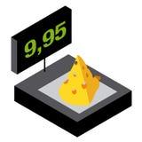 Pesando o queijo Fotos de Stock Royalty Free