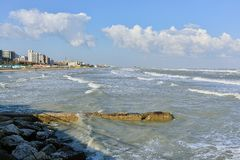 Pesaro, Adriatic coast Royalty Free Stock Photos