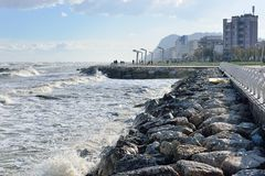 Pesaro, adriatische Küste Lizenzfreie Stockfotografie