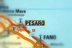 Pesaro, Italy - Europe. Pesaro, the capital of the Pesaro e Urbino province, Italy Europe Stock Photography