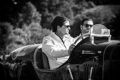PESARO COLLE SAN BARTOLO, ИТАЛИЯ - 17-ОЕ МАЯ - 2018: Гоночный автомобиль ЭКСТРЕННЫЙОГО ВЫПУСКА 1948 BENTLEY MK VI старый в ралли  стоковое фото rf