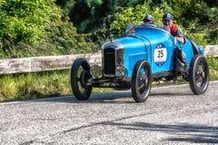PESARO COLLE SAN BARTOLO, ITALIE - 17 MAI - 2018 : Vieille voiture de course d'AMILCAR CGSS SILURO CORSA 1926 dans le rassembleme Photos libres de droits