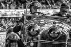 PESARO COLLE SAN BARTOLO , ITALY - MAY 17 - 2018 : ALFA ROMEO 6C 1750 GS 1930 on an old racing car in rally Mille Miglia 2018 the. PESARO COLLE SAN BARTOLO Royalty Free Stock Photography
