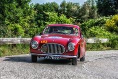 PESARO COLLE SAN BARTOLO , ITALY - MAY 17 - 2018 : CISITALIA 202 SC1950 old racing car in rally Mille Miglia 2018 the famous ital. PESARO COLLE SAN BARTOLO stock image