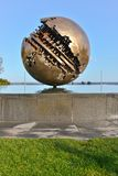 Pesaro and the Great Ball of A  Pomodoro Stock Photography