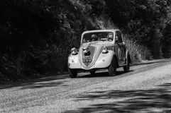 FIAT 500 B `TOPOLINO` 1948. PESARO, ITALY - MAY 15: old racing car in rally Mille Miglia 2017 the famous italian historical race 1927-1957 on May 19 2017 Stock Image