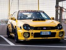 Subaru impreza old racing car rally stock photo