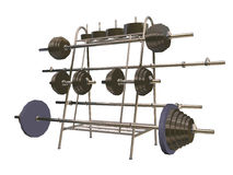 Pesas de gimnasia stock de ilustración
