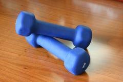 Pesas de gimnasia Fotografía de archivo libre de regalías