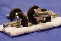 Pesas de gimnasia foto de archivo libre de regalías