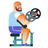 Pesas de gimnasia calvas del entrenamiento del músculo de la aptitud del hombre Imágenes de archivo libres de regalías