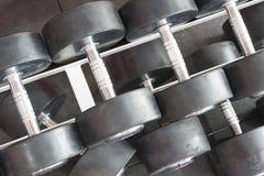 pesas de gimnasia del top Fotografía de archivo libre de regalías