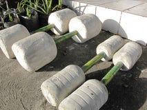 Pesas de gimnasia hechas a mano Imagen de archivo libre de regalías