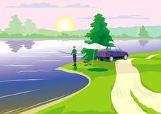 Pesca ilustração stock