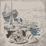 Pesca acertada ilustración del vector