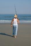Pesca andante Immagine Stock