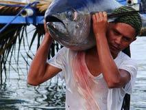 Pesca artesanal del atún de trucha salmonada en Philippines#1 Fotografía de archivo libre de regalías