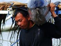 Pesca artesanal del atún de trucha salmonada en Philippines#12 Imagen de archivo