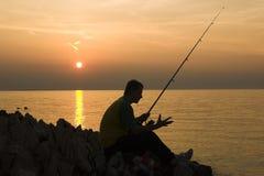 Pesca atrasada Foto de Stock