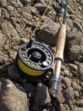 Pesca-barra para fly-fishing Fotos de archivo