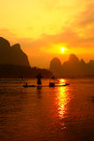 Pesca cinese di fishman Fotografie Stock Libere da Diritti