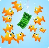 Pesca com dinheiro Foto de Stock