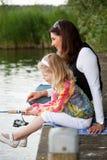 Pesca com mamã imagem de stock royalty free