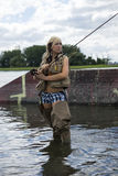 Pesca com mosca Fotografia de Stock