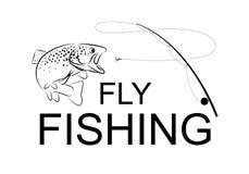 Pesca com mosca, vetor Foto de Stock Royalty Free