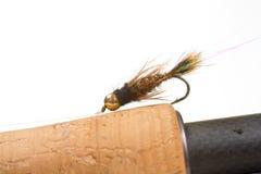 Pesca con la mosca mega di principe Nymph Fotografie Stock Libere da Diritti
