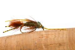 Pesca con la mosca mega di principe Nymph Immagini Stock Libere da Diritti