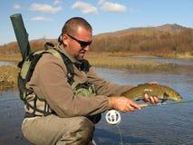 Pesca con mosca fotografía de archivo libre de regalías