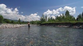 Pesca con mosca 3 almacen de metraje de vídeo