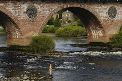 Pesca con mosca Escocia Reino Unido Imagen de archivo libre de regalías