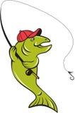 Pesca con mosca Rod Hook Cartoon de la trucha libre illustration