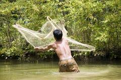 Pesca con una red del tiro fotos de archivo