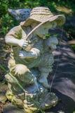Pesca da estátua Fotos de Stock