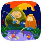 Pesca da manhã ilustração stock
