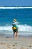 Pesca da praia Imagem de Stock