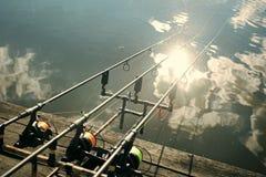 Pesca da rotação, dobrando, peixes de travamento fotografia de stock royalty free